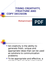 Advertisning Creativity and Copy Structure