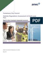 2013-05 Habitats Regulation Assessment REPORT FINAL
