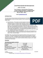 Two-Dimensional Polyacrylamide Gel Electrophoresis