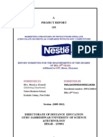 Nestle - Marketing Strategies of Nestle Foods India Ltd. Chocolate Segment as Compared With Its