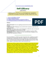 Self Efficacy- Bandura