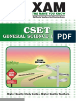 CSET General Science 118, 119 Teacher