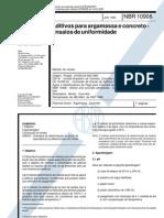 NBR 10908 - 1990 - Aditivos Para Argamassa e Concreto - Ensaios de Uniformidade