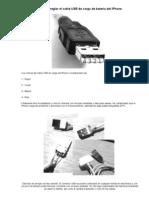 Como arreglar el cable USB de carga de bateria del iPhone.doc