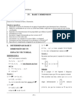 Algebra Lineal Base y Dimension