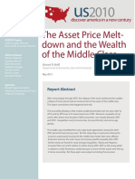 The Asset Price Meltdown and the Wealth of the Middle Class