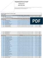 Resultado Final Vestibular 2013 01 Informe