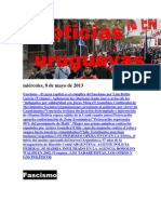 Noticias Uruguayas miércoles 8 de mayo del 2013