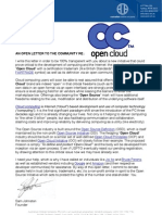 "An open letter to the community regarding ""Open Cloud"" by Sam Johnston"