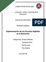Implementación de circuitos digitales en la educación