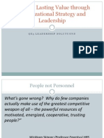 Organizational Strategy and Leadership