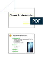 Classes de Biomateriais
