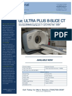 GE Ultra Plus 8-Slice CT EQ#6541