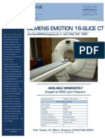 Siemens Emotion 16-Slice CT EQ#6602