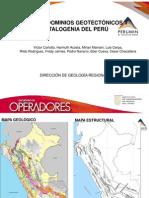 MAPA DE DOMINIOS GEOTECTÓNICOS Y METALOGENIA DEL PERU