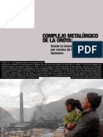 Informe de la Federación Internacional de Derechos Humanos sobre el actual estado de La Oroya