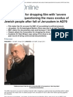 Zionism - BBC Criticised for Dropping Film With 'Severe Ramifications' Questioning the Mass Exodus of Jewish People After Fall of Jerusalem in AD70 _ Mail Online