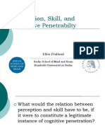 Perception, Skill, And Cognitive Penetrabilty