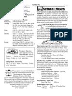 St. Timothy L.A. April 5th Bulletin