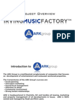 Irving Music Factory presentation