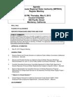 MPRWA Regular Meeting Agenda Packet 05-09-13