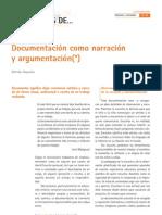 La Documentacion Como Argumentacion Hoyuelos