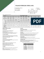 Polia Ferro Trapezoidal A