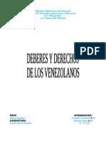 Deberes y Derechos Del Venezolano
