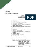Geraldo Ataliba - Recursos em matéria tributária