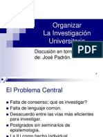 organización de la investigación universitaria