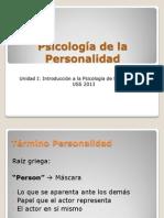 Clase 1 Introduccion a La Psicologia de La Personalidad