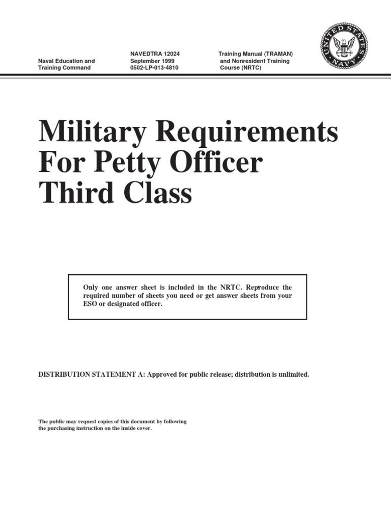 Navedtra12024bmr For Petty Officer 3rd Class Self Esteem