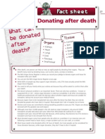 Fact Sheet Donating After Death