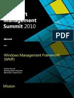 Windows Management Framework MMS 2010 .pptx