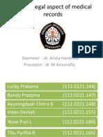 Medicolegal Aspect of Medical Records