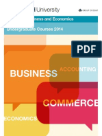Faculty of Business & Economics 2014 Undergraduate Course guide