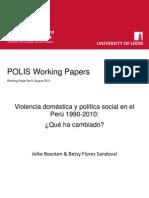 Violencia doméstica y política social en el Perú