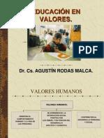EDUCACIÓN EN VALORES.DOCENTES