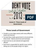 3 Levels of Government Lesson