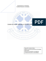 Lista de Revistas Indexadas en ISI Para Ciencias Sociales (1)