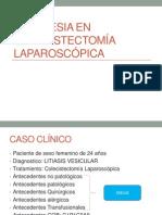 Anestesia en colecistectomía laparoscópica