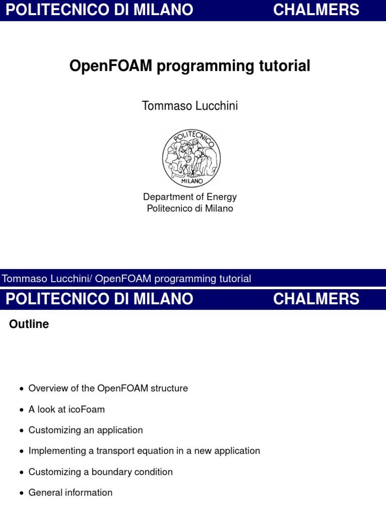 OpenFOAM Programming Tutorial | C++ | Library (Computing)