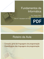 Fundamentos Da Informatica Aula 07 Linguagens de Programacao