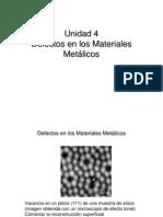4 Defectos en Los Materiales Metalicos