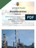 Biocombustibles Ecuador