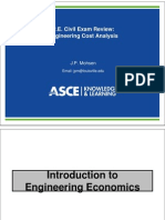 Pe Civil Cost Analysis Fall 2012