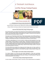 Child Centred Play Therapy Training Program Material
