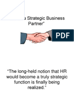 HR as a Strategic Business Partner