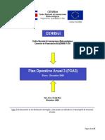 Plan Operativo Anual 3 (POA3) Del Proyecto CENIBiot