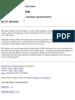 Blavatsky - Secret Doctrine (3,104 Pgs)